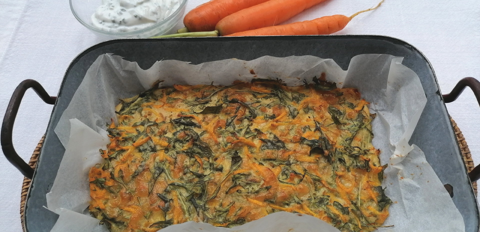 essenzielles_gesundes Mittagessen_Rucola-Karotten-Kuchen